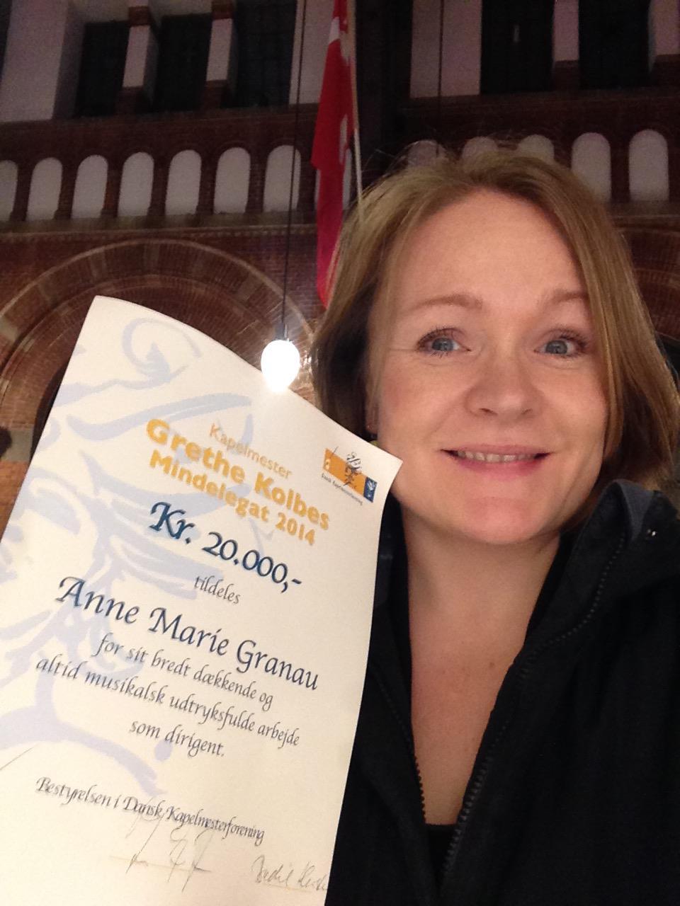 Conductor - Anne Marie Granau - Kolbes-mindelegat 2014